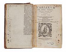 Covarruvias y Leyva (Diego) - Variarum ex iure pontificio, regio, et caesareo resolutionum libri III,