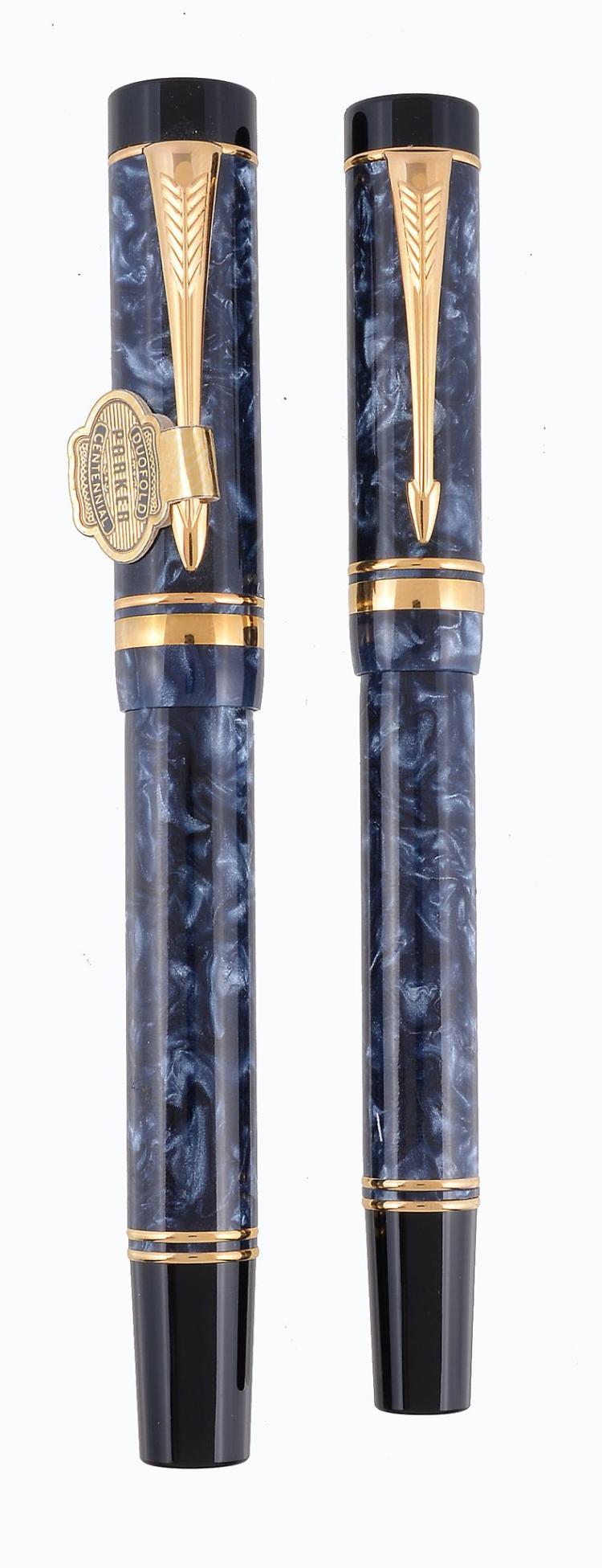 Parker Duofold Centennial A Blue Marble Fountain Pen