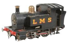 A well engineered 5 inch gauge model of an LMS 0-4-0 side tank Locomotive