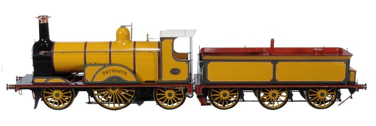 An exhibition quality model of a 7 1/4 inch gauge LB & SCR S