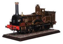A gold award winning model of a 7 1/4 inch gauge LSWR Beyer Peacock 2-4-0...