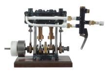 A Reeve's 'Border' twin cylinder live steam marine engine