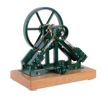 A well engineered model of a twin diagonal live steam marine engine