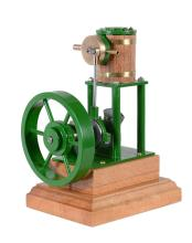 A well engineered model of a vertical steam engine, built by Mr D