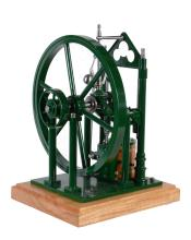 A well engineered 1 inch scale freelance model of a Scotch crank live steam...