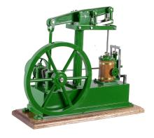 A well engineered model of a live steam beam engine