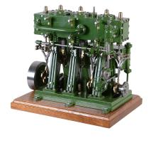A Freelance model of a triple marine live steam engine