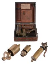 A Collection of three polished brass steam whistles from Locomotive and Engines