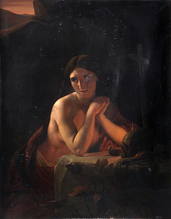 Jan Baptist Lodewijk Maes (1794-1856) The penitent