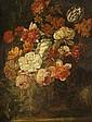 Circle of Cornelis Kick, A still life of flowers