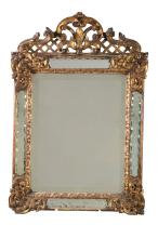 An Italian carved and giltwood marginal mirror, late 18th / early 19th century