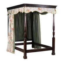 A mahogany four post bed in George III style , late 19th century