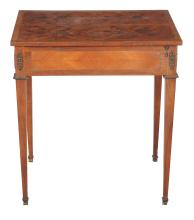 A French rosewood and specimen marquetry side table , 18th century and later