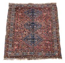 A Shiraz rug, approximately 195 x 147cm