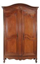 A French walnut armoire , second half 18th century
