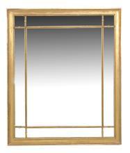 A giltwood wall mirror , first half 19th century, 132cm x 109cm