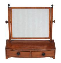 A George III mahogany platform dressing mirror , circa 1800