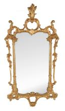 A pair of giltwood mirrors in George III style , late 19th/early 20th century
