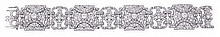 A diamond panel bracelet, mid 20th century, the