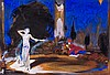 William H. Barribal, Figures on stage, Gouache and, William H. Barribal, Click for value