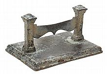 An early Victorian cast iron boot scrape, mid 19th