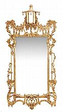 A gilt framed wall mirror in George III style, of