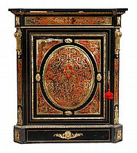 A Victorian ebonised, gilt metal mounted and brass
