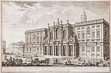 Giuseppe Vasi (1710-1782) - Veduta della Facciata, e Portico della Basilica Liberiana di S. Maria Maggiore,