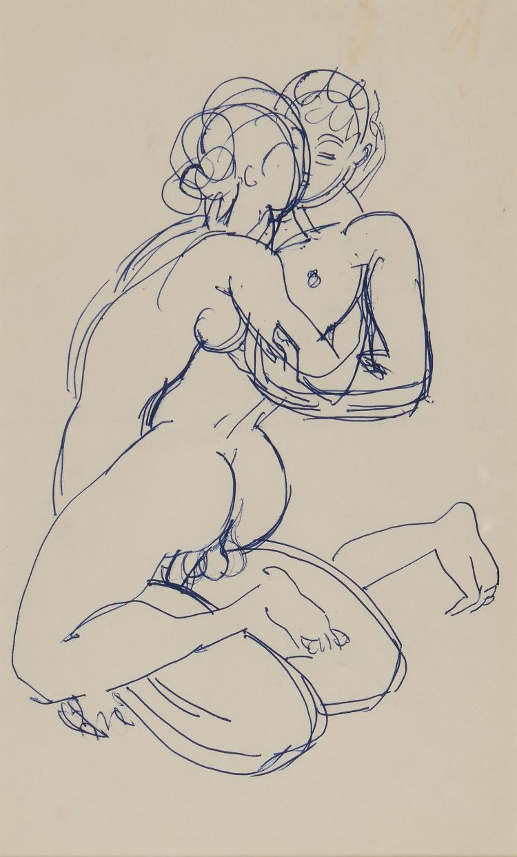 Grant duncan three drawings of a couple making love