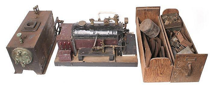 A live steam model of a Lancashire type horizontal