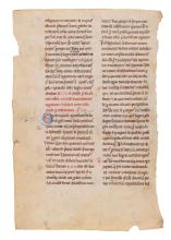 Leaf from a copy of Gregory the Great, Cura Pastoralis , in Latin