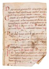 Two leaves from a Romanesque Noted Breviary, in Latin