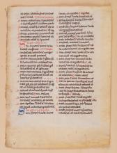 Four leaves from three medieval manuscripts
