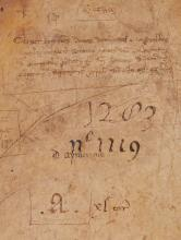 Covers of account books of a Bolognese official