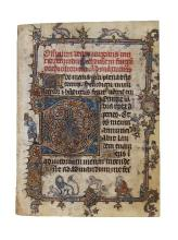 Leaf from an early Book of Hours, of Dominican Use