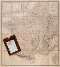 Dufour (Adolphe Hippolyte) - Carte Administrative, Physique et Routière de la France,