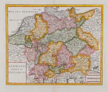 Germany.- Albrizzi (Giovambattista) - A group of 6 general and regional maps of Germany,