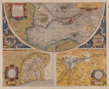 Spain.- Ortelius (Abraham) - Carpetaniæ [on sheet with] Guipuscoae [on sheet with] Cadiz urbs,