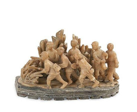 Soapstone Sculpture Group The Red Army Soldiers