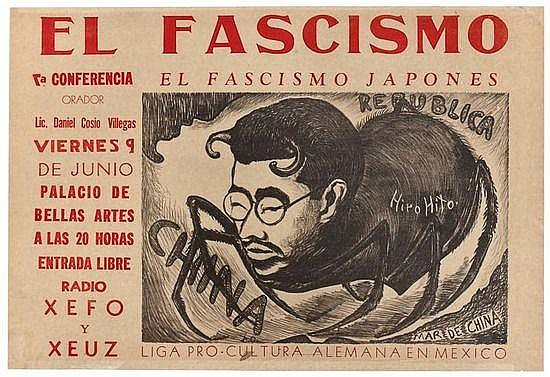 Ocampo (Isidro) El Fascismo, lithographic poster