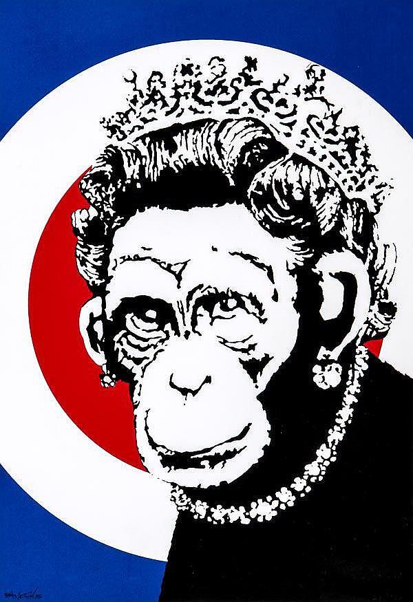 ARR Banksy (British, b.1975), Monkey Queen,