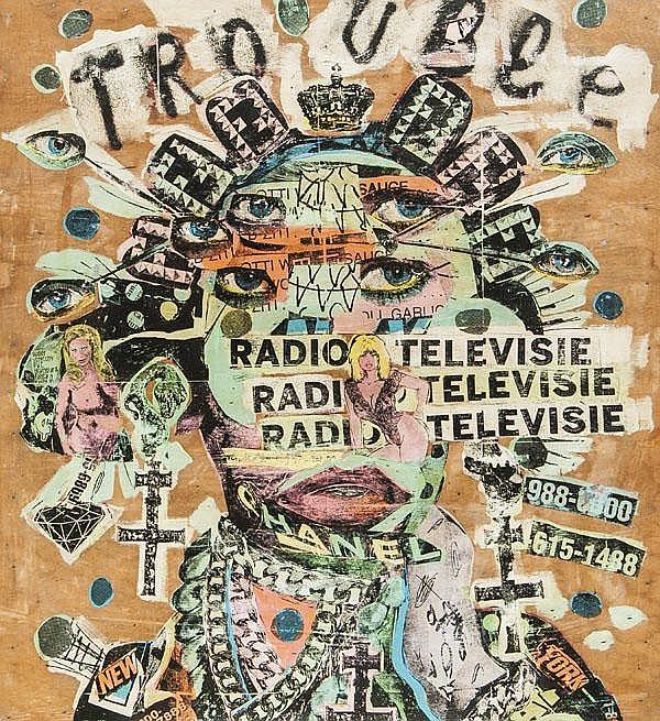 Bast (American), Radio Television, 2010, Acrylic,
