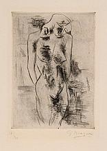 Georges Braque (1882-1963) - Etude de nu (Nu) (v.1)