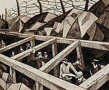 Christopher Richard Wynne Nevinson (1889-1946) - La Guerre Des Trous