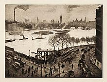 Christopher Richard Wynne Nevinson (1889-1946) - The Thames from Blackfriars