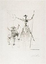 Salvador Dalí (1904-1989) - Don Quichotte et Sancho Pança (m.&l.266;)