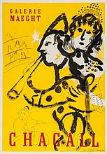 Marc Chagall (1887-1985)(after) - Le Clown Musicien (m.174)