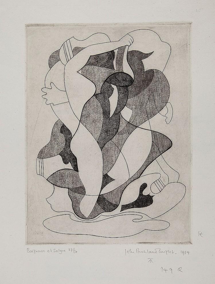 John Buckland-Wright (1897-1954) - Baigneuse et Satyre No.1 (M.46)