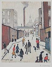 Laurence Stephen Lowry (1887-1976)(after) - Street Scene