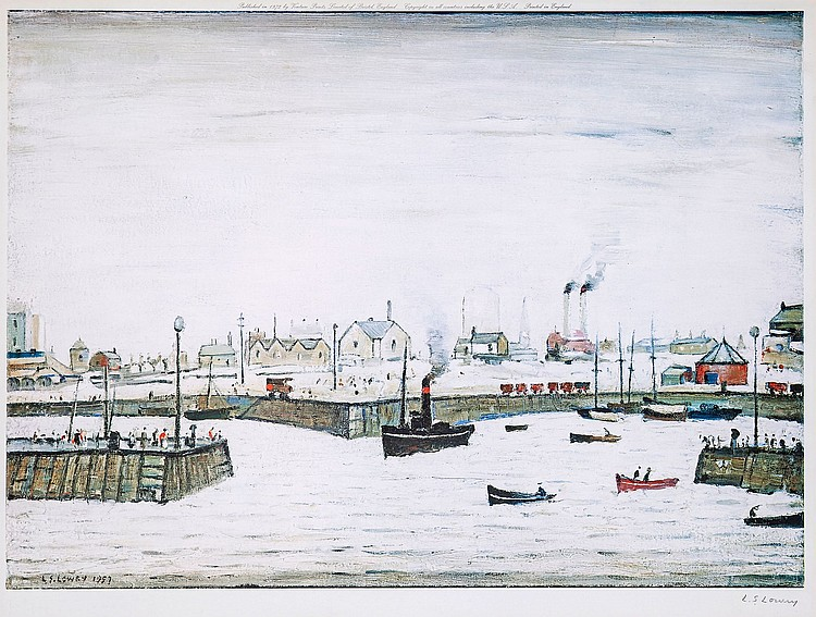 Laurence Stephen Lowry (1887-1976)(after) - Harbour Scene